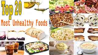 Top 20 Most Unhealthy Foods