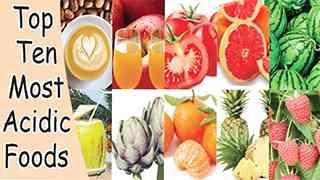 Top Ten Most Acidic Foods